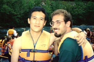On a rafting trip in 1997 shortly after we met