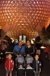Family of 6 at Epcot